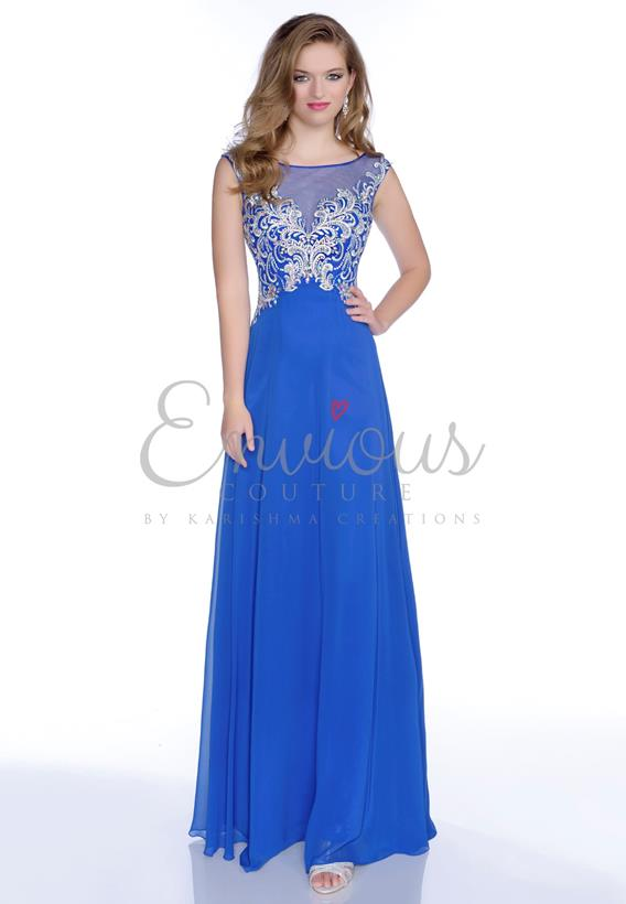 BEADED CHIFFON ROYAL,BLUSH 16029