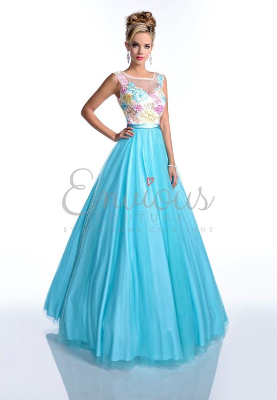 EMBROIDERY TULLE  PINK,AQUA 16036