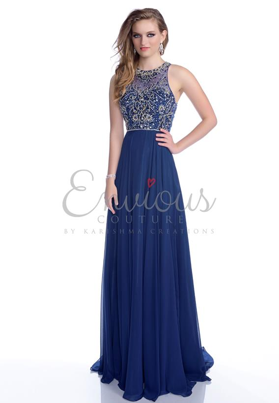 BEADED CHIFFON NAVY,IVORY,RED 16069