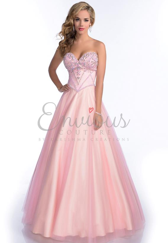 BEADED TULLE SKY BLUE,PINK 16175