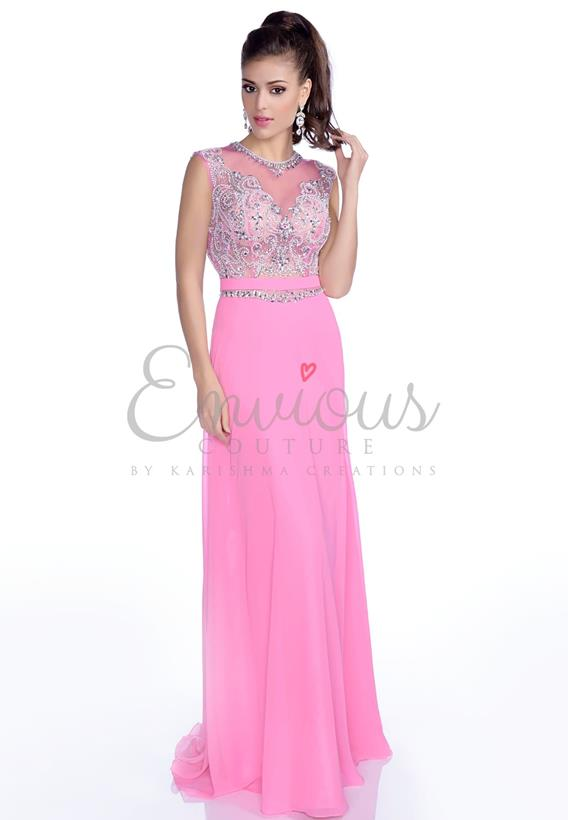 BEADED CHIFFON ROYAL,ROSE 16185