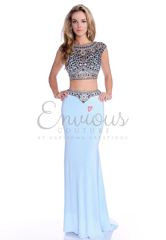 BEADED JERSEY  WHITE,SKY BLUE 16192