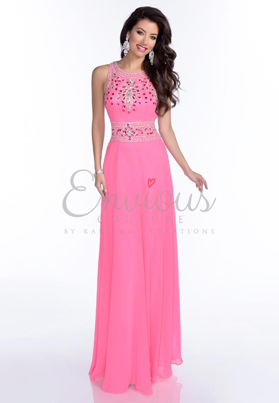 BEADED CHIFFON ROYAL,FUCHSIA 16211