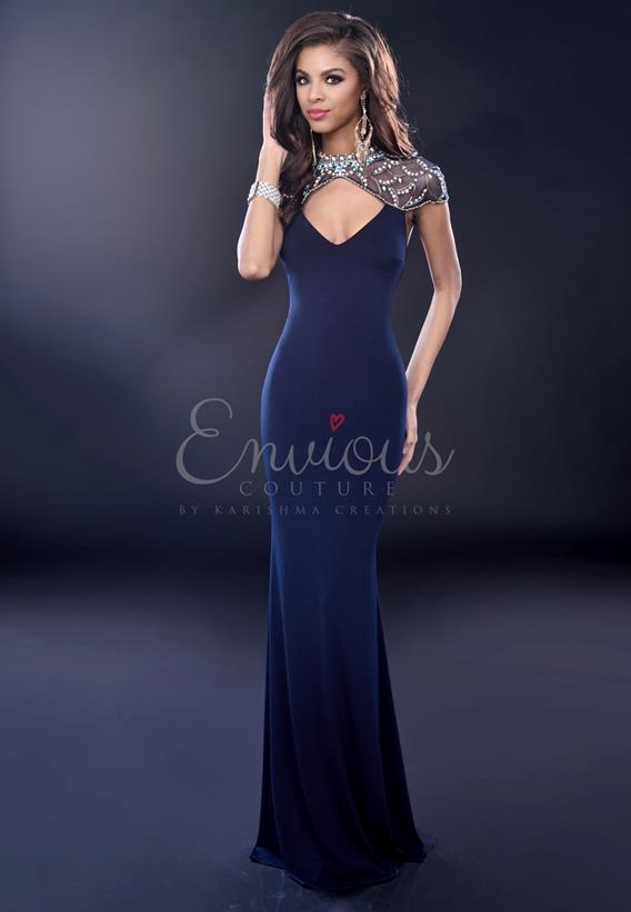 BEADED TULLE ROYAL 16250