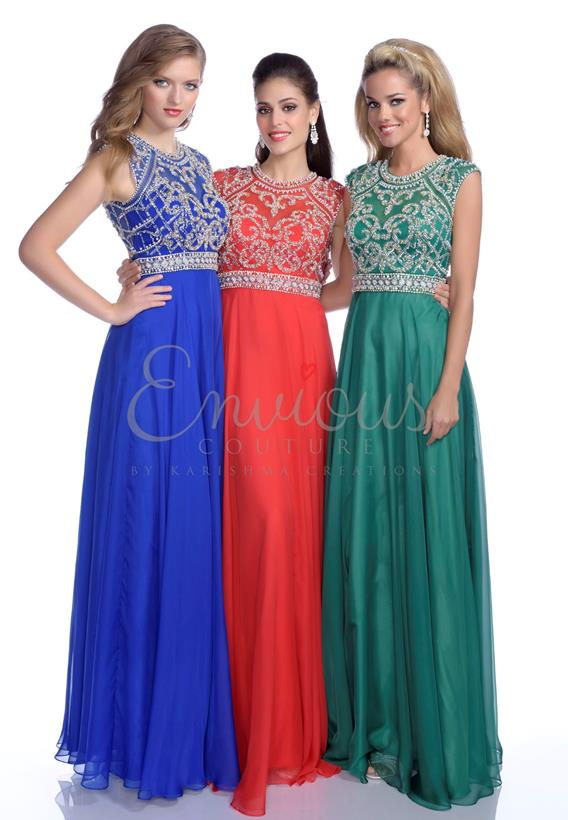 CHIFFON IVORY,ROYAL,BLACK,EMERALD,RED 16262
