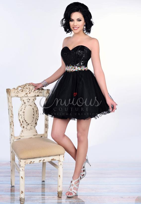 SEQUIN TULLE BLACK 16281