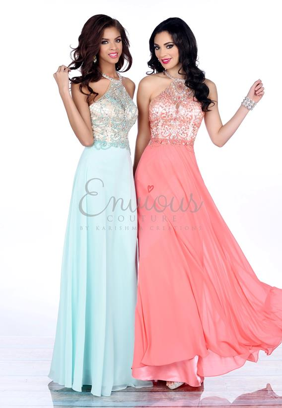BEADED CHIFFON CORAL,MINT 16348