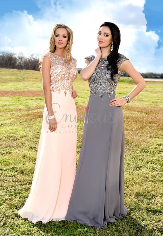 BEADED CHIFFON GREY,BLUSH 16349