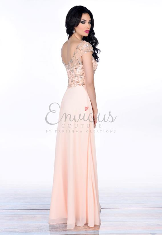 BEADED CHIFFON BLUSH 16353