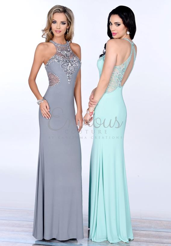 BEADED JERSEY MINT,GREY 16356