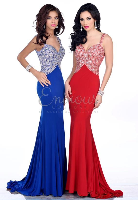 BEADED JERSEY ROYAL,RED 16375