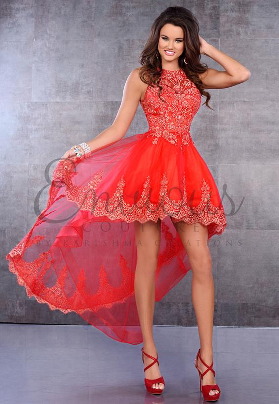 Tulle/Lace Red 17333