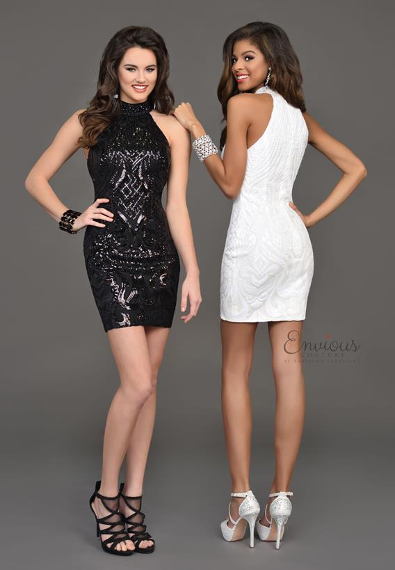 SEQUIN BLACK,IVORY 17517