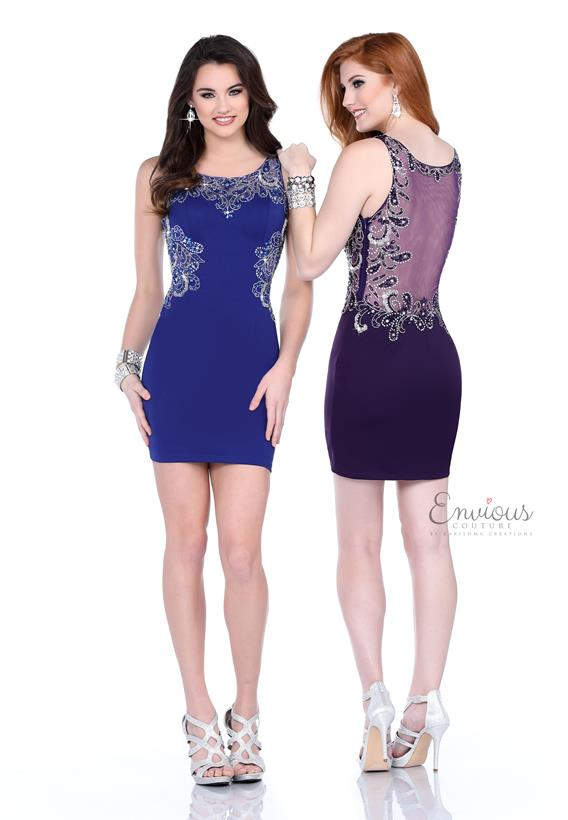 BEADED JERSEY COBALT,PURPLE 17530