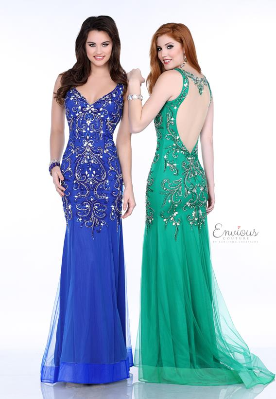BEADED TULLE GREEN,ROYAL 17556
