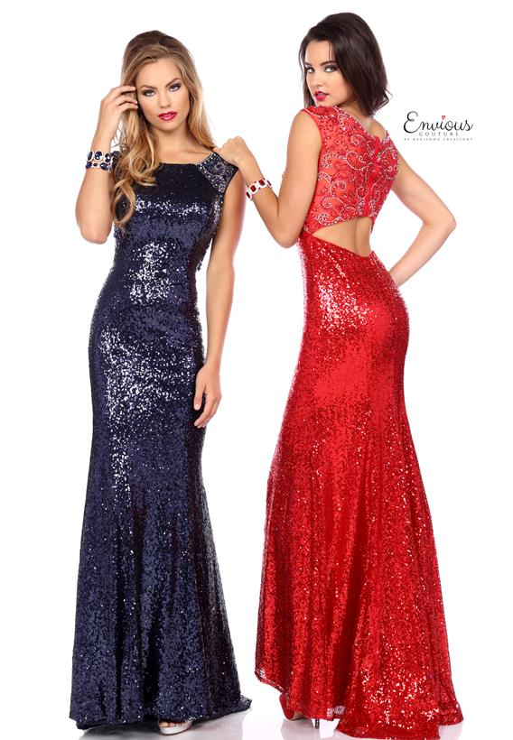 SEQUINS RED,NAVY 18030