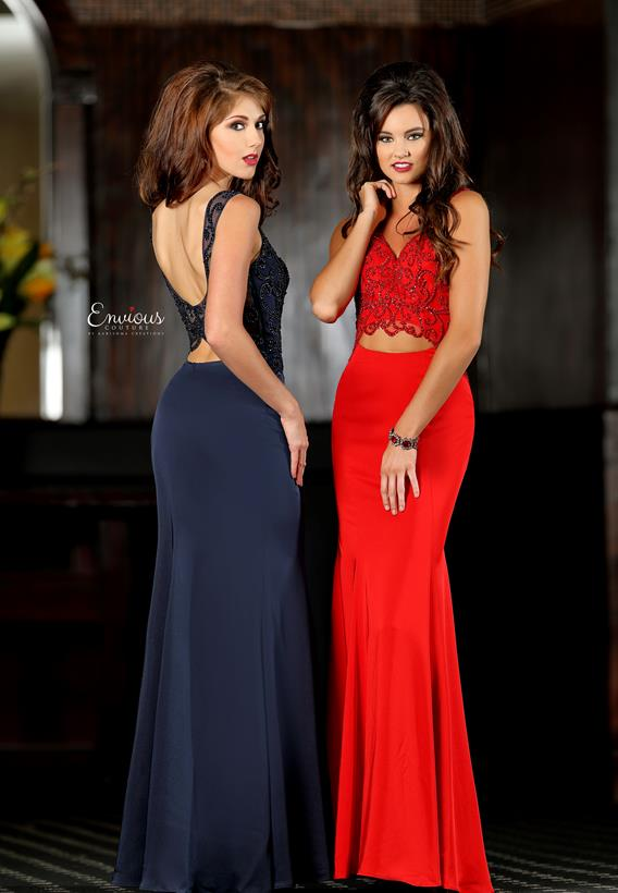 BEADED MATTE SATIN NAVY,RED,GREY 18100