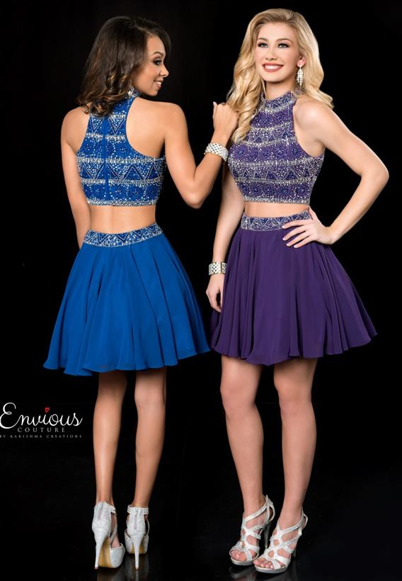 Beaded Chiffon Purple,Royal 18520