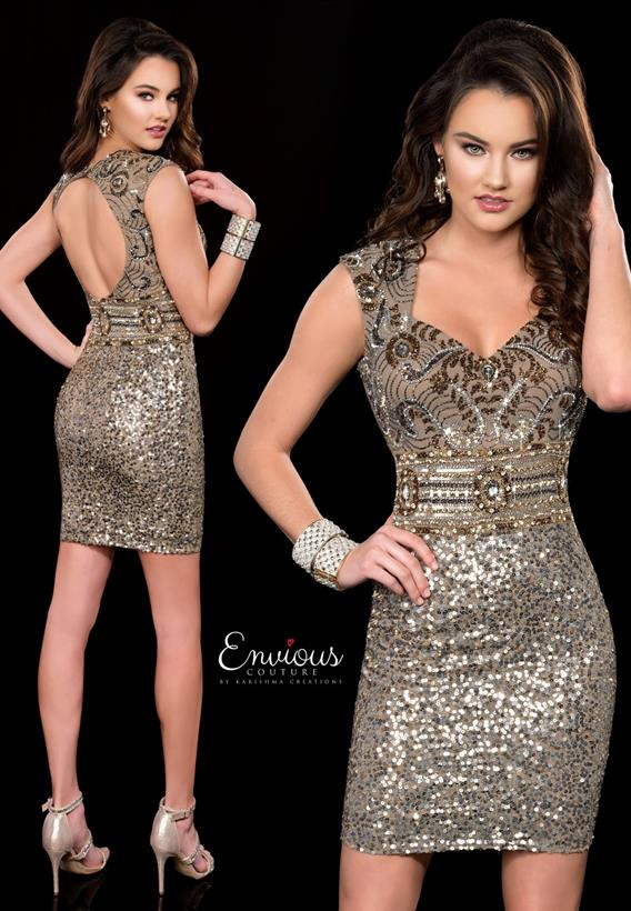 Beaded Sequin Dark Lead 18547
