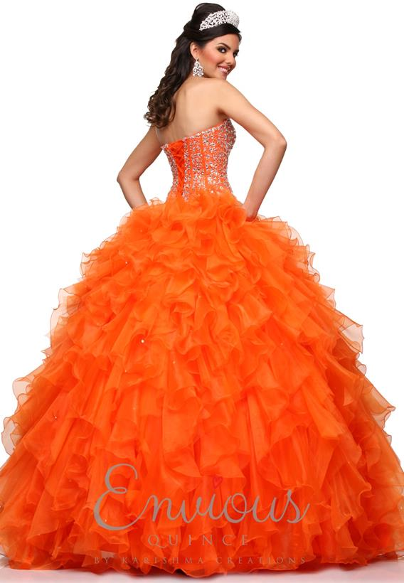 ORGANZA ORANGE,TURQUOISE,WHITE 2166