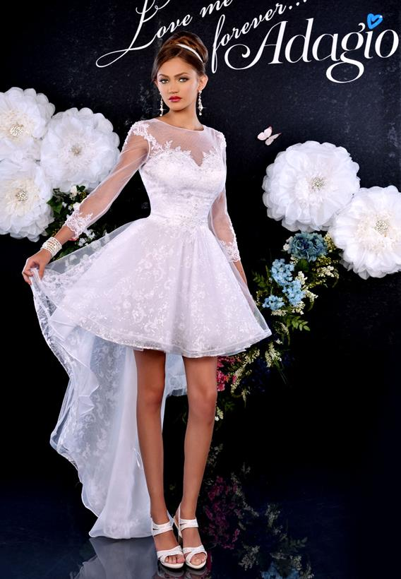 Tulle/Lace Ivory,White D9161
