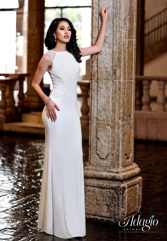 Beaded Jersey Ivory,White D9224
