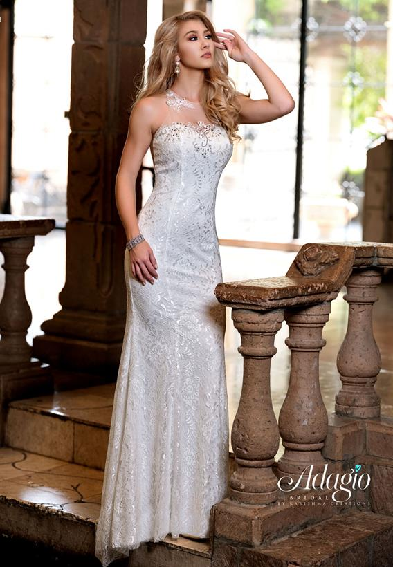 Beaded Lace Ivory,White D9226