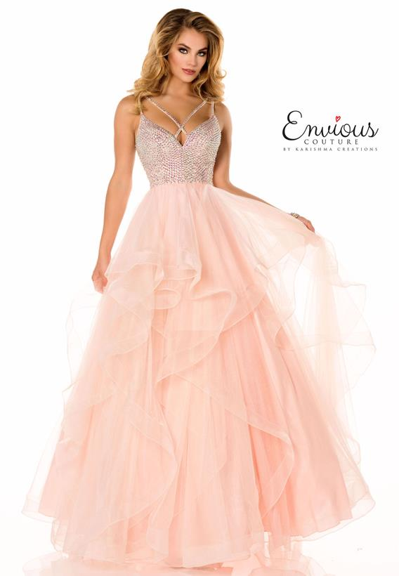 Beaded Tulle Blush,White E1076