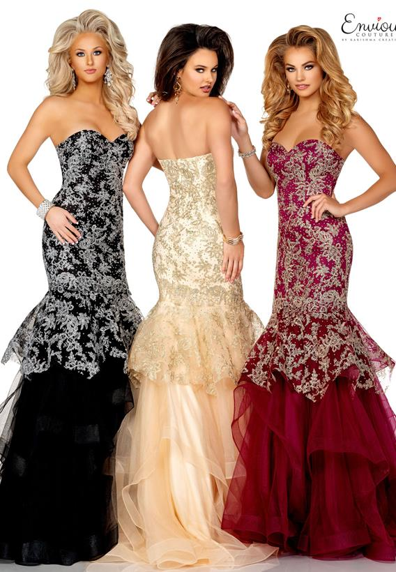Beaded Tulle Black,Champagne,Plum E1150