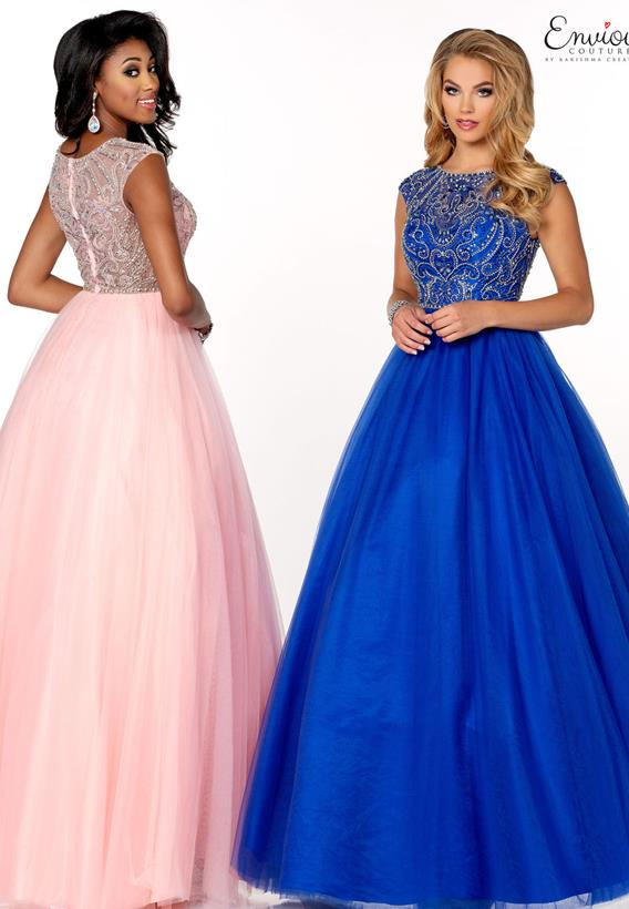 Beaded Tulle Pink,Silver,Royal,Silver E1174