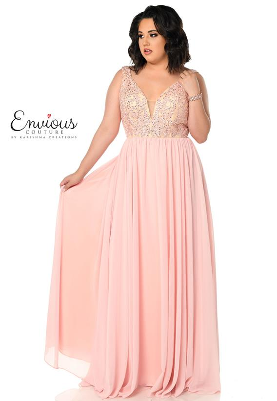 Chiffon Embroidered Pink,Navy E1177
