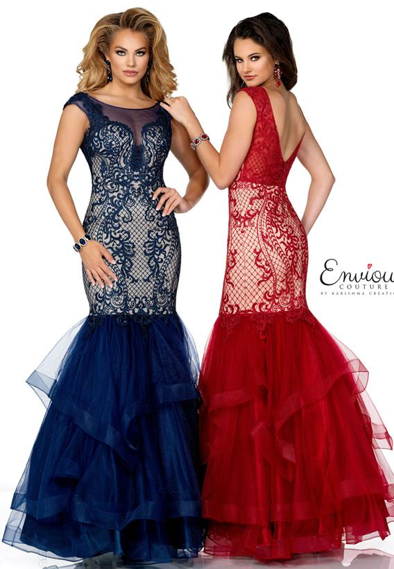 Embroidered Beaded Tulle Burgundy,Navy E1239