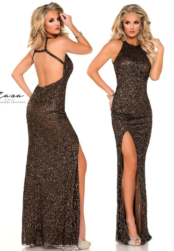 Beaded Tulle Dark Brown,Silver K2011