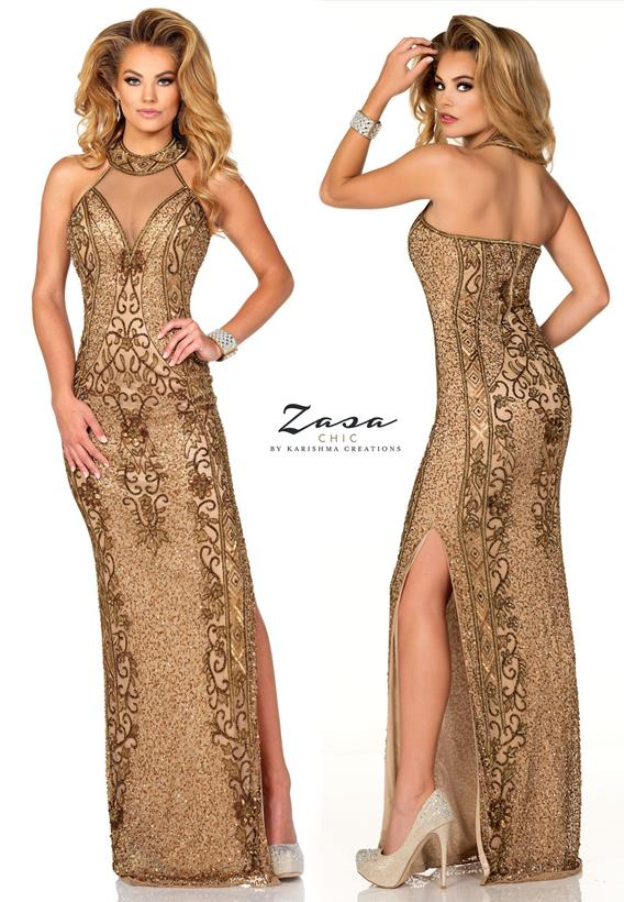 Beaded Tulle Antique,Nude K2022