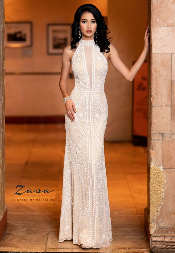 Beaded Tulle Lead,Ivory K2030