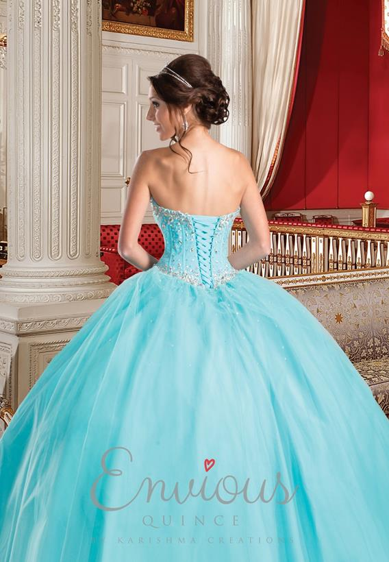 Beaded Tulle Peach,Aqua Q15251