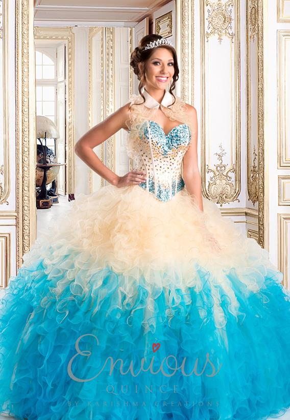 TULLE TURQUOISE,CHAMPAGNE Q15262