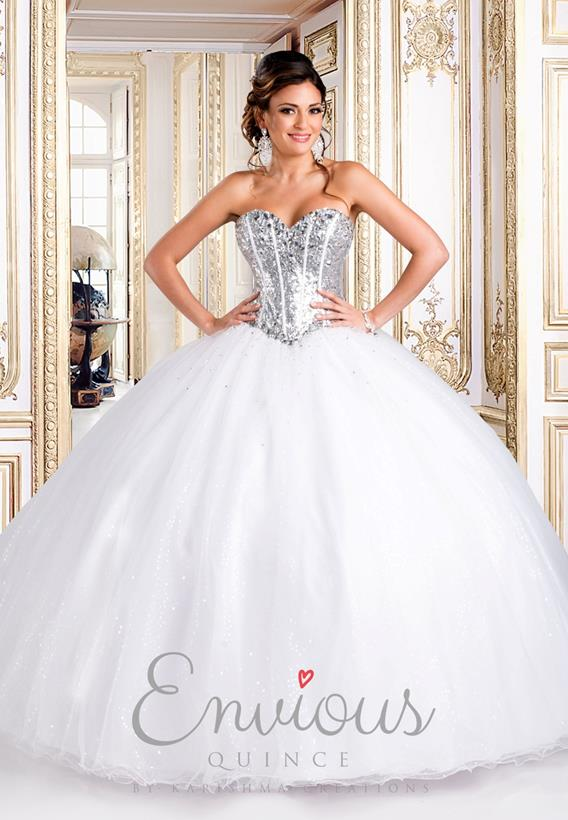 Beaded Tulle White,Silver Q15272