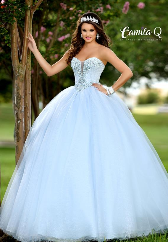 Beaded Glittered Tulle Light Blue,Light Pink Q17009