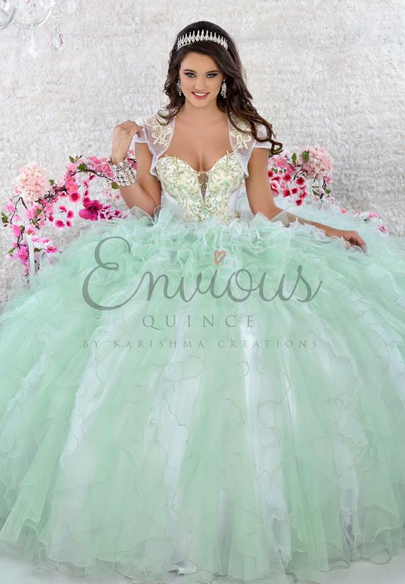 Beaded Tulle White,Pink,White,Green Q17038