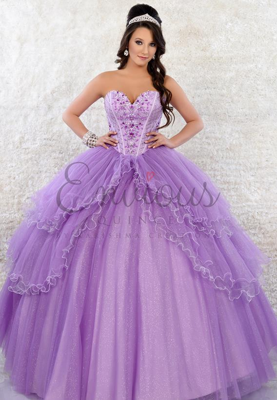 Glittered Tulle Light purple Q17039