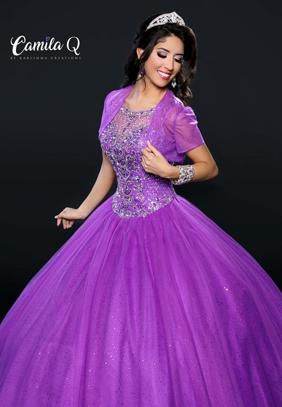 BEADED GLITTERED TULLE MELON,PURPLE Q17108