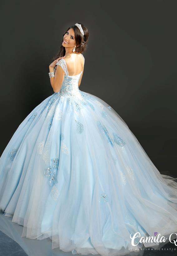 APPLIQUE TULLE ICE BLUE,PINK Q17112