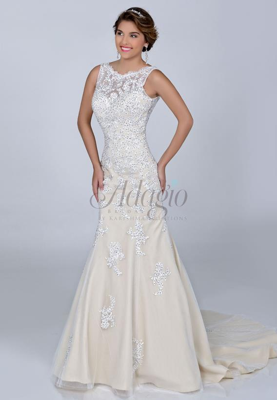BEADED LACE IVORY,WHITE W9186A