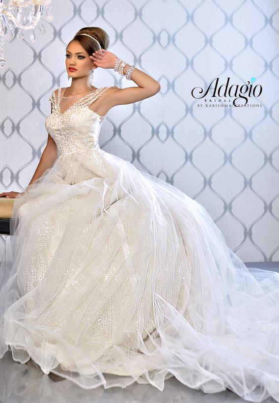 Lace Tulle Ivory,White W9247