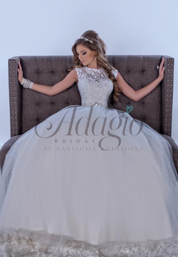 Lace Tulle Ivory,White W9253