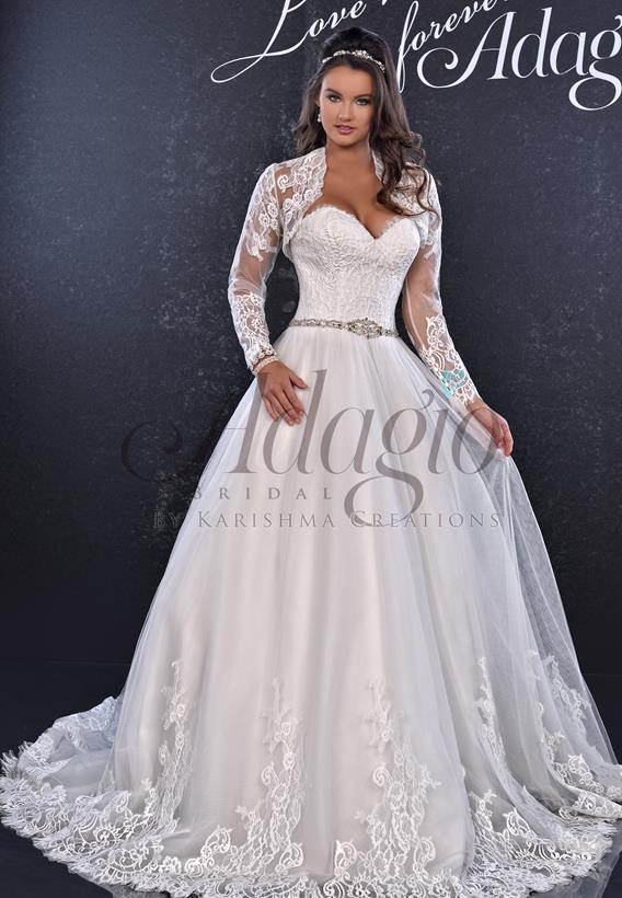 Lace Tulle Ivory,White W9254