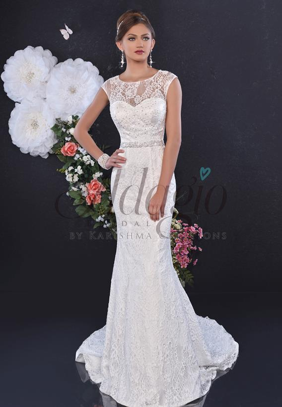 Lace Ivory,White W9261