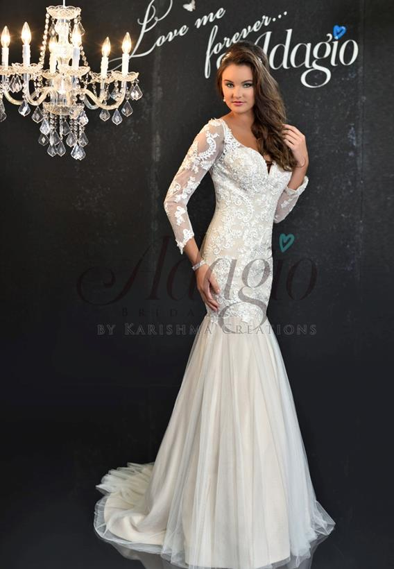 Tulle/Lace Ivory,White W9263