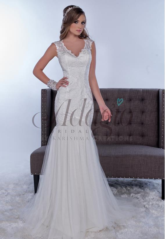 Lace/Tulle Ivory,White W9268